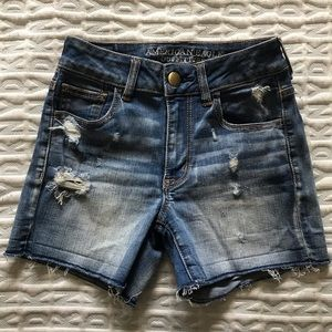 AE Distressed Hi Rise Shortie